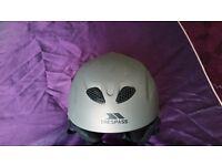 Trespass Grey Ski Helmet, size medium 54-58 cm, used for one holiday