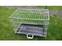 Folding small dog cage or cat carrier