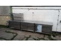 Good Condition Stainless Steel Cafe/Restaurant Storage Units