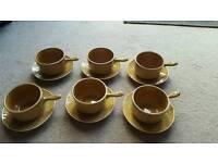 Set six 1960s soup bowls and sauces