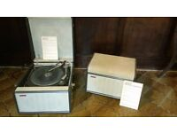 Hacker Vintage portable record player with amplifier