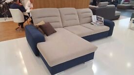 PALERMO Delivery 1-10d Corner Sofa Bed with comfortable backrests is equipped with adjustable head