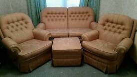 3 piece suite and stool
