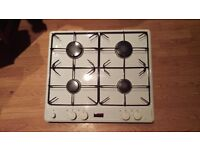 Stoves white enamel built in gas hob / burner x4, 585mm x 515mm - excellent condition