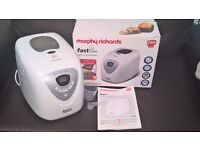 Morphy Richards Breadmake **USED TWICE** Boxed w/ manual & accessories