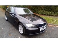 BMW 320 DIESEL SE 06 REG IN BLACK WITH A 17 STAMP SERVICE HISTORY AND MOT OCTOBER 2018