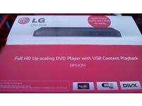 Dvd player HD LG Boxed brand new