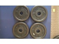4 x 2.5kg Weight Plates (steel)