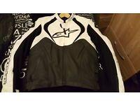 alpinstars leather motor bike jacket