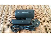 BRAUN travel hair dryer silencio 1250 compact
