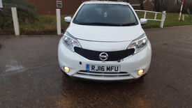 2016 16 NISSAN NOTE 5 DOOR AITOMATIC - LOW MILES - £30 ROAD TAX A YEAR