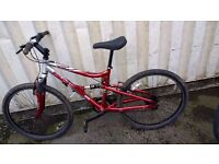 APOLLO FS26 MOUNTAIN BICYCLE WITH DUAL SUSPENSION 21 SPEED 26 INCH WHEEL AVAILABLE FOR SALE