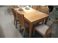 Ikea Bjursta dining table and chairs.