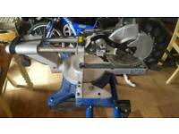 Used scheppach mitre saw hm100lxu with bench