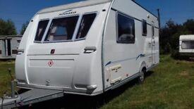 FLEETWOOD sonata rhapsody ( ADRIA ) lightweight 4 berth caravan 2005