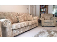 QUALITY HOUSE OF FRASER 3 PIECE SUITE COST £3,500 WHEN NEW