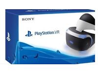 Play station VR headset with 2 games