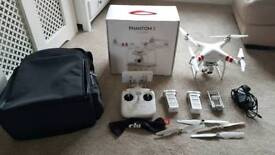 Dji phantom 3 standard with extra battery and range extender
