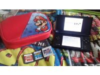 nintendo ds i with 3 games no charger £25