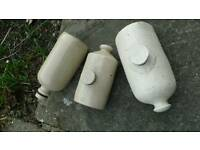 Stoneware hot water bottle or bed warmer x3