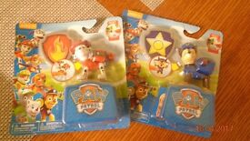 Paw Patrol Chase and Marshall character toys.