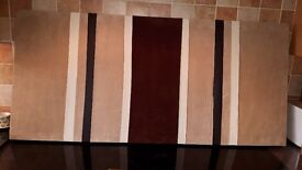 LARGE BROWN AND BEIGE WALL ART