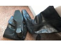 Womens size 6 leather Gabor used knee high boots