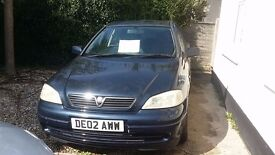 VAUXHALL ASTRA 1.6 02 plate. A very reliable family car. Dark blue. Very good condition.