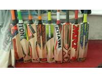 CRICKET BAT, ALL BRANDS AVAILABLE. SHORT HANDLE, THICK EDGE, ENGLISH WILLOW