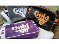 3 gola bags one in excellent condition two well used. from smoke free and pet free home
