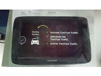 Tom Tom Via 62 sat nav live traffic, phone interface latest maps, new and unused