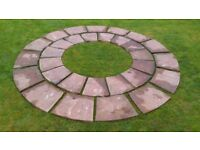 Calder brown paving slabs 30 can be made into 2 circles