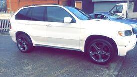 WHITE BMW X5 DIESEL