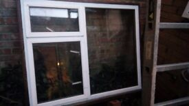 Double glazed window with metal frame for sale, 121cm x 105cm
