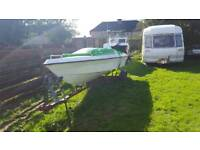 50hp engine with free speedboat project and trailer