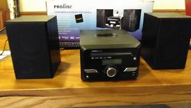 CD player: Proline Microsystem with dock for iPod