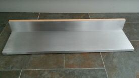 2 floating shelves with stainless steel finish