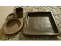 Ikea pots for plants and plant tray