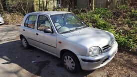 5 DOOR AUTOMATIC NISSAN MICRA, VERY LOW MILEAGE, (36000). MOT, SERVICE HISTORY, HPI CLEAR.