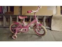 "Girls bike 14"" wheels very good condition hello kitty"