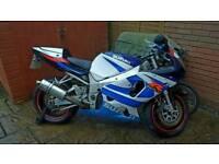 Suzuki GSXR 750 GSXR750 Y K1 K2 K3 1000 750 track bike