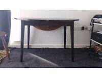 Vintage Dark Solid Wood Circular Fold-Down Dining Table £50ono