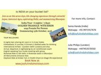 India's famous Golden Traingle Group Tour with International Airfare and Visa in just £ 1099 pp.