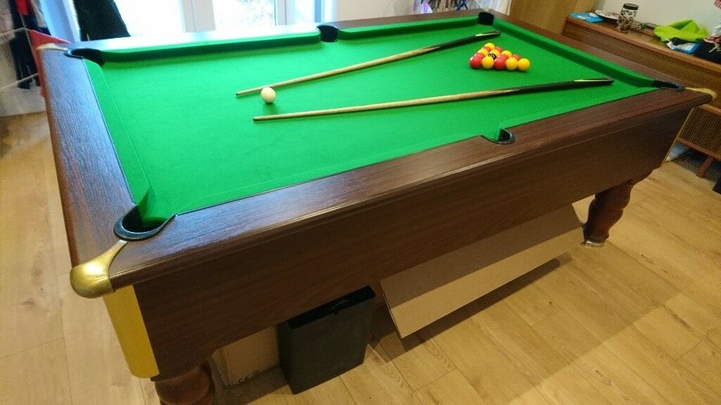 Excel Regent Ft English Slate Bed Pool Table Excellent Condition - Regent pool table