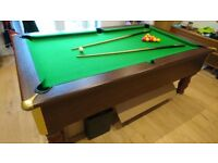 Excel Regent 7ft English Slate Bed Pool Table Excellent Condition