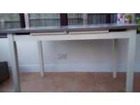 Two Toned Extending Solid Wood Dinning Table