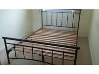 Metal bed frame.