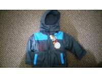 Baby boy 2 x jackets, with hood, 18-21 months brand new