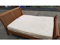 Wooden King Size Bed - CAN DELIVER