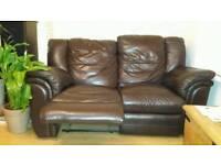 Recliner ITALIAN Soft Leather 2 seats sofa